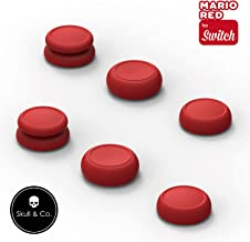 Skull & Co. Skin, CQC and FPS Thumb Grip Set Joystick Cap Analog Stick Cap for Nintendo Switch Joy-Con Controller - Mario ...