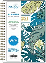 """Blue Sky 2021 Weekly & Monthly Planner, Flexible Cover, Twin-Wire Binding, 5"""" x 8"""", Grenada (125891)"""
