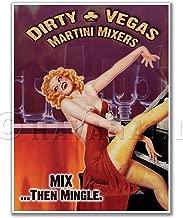 Gallery Prints Dirty Vegas Cigar Lounge Martini Bar Vintage Pinup Girl Print - Measures 24