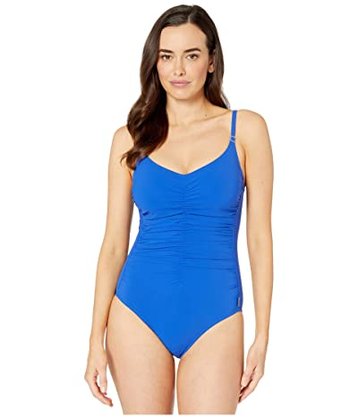 SHAN Classic Ruched Front One-Piece (Royal) Women