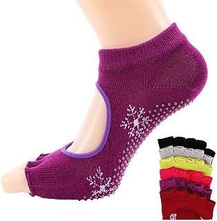 Ms. Leakage Five Fingers Cotton Sweat Sweat Fingers Sports Socks Yoga Socks,Fully Breathable