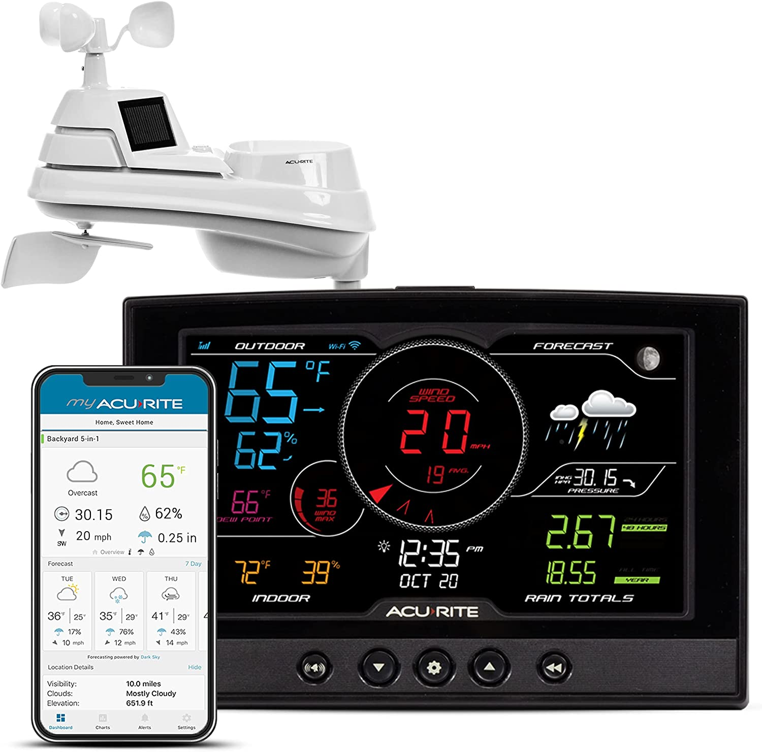AcuRite Iris Weather Reservation Station Overseas parallel import regular item with Connection Wi-Fi Wireless for