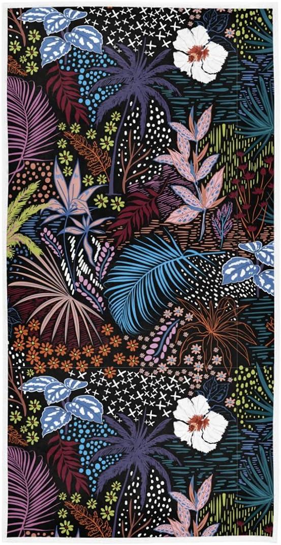 Exnundod Summer Tropical Leaves Hand Bath Max 76% OFF Floral Sales results No. 1 Color Towels 30