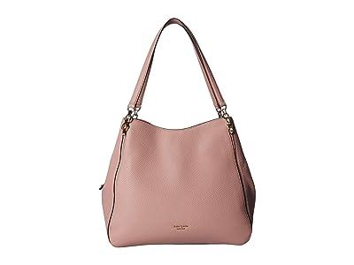Kate Spade New York Hailey Large Shoulder Bag (Flapper Pink) Shoulder Handbags