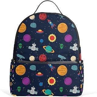 MASSIKOA Exoplanet Space Rocket Telescope Laptop Backpack Casual Shoulder Daypack for Student School Bag Handbag - Lightwe...