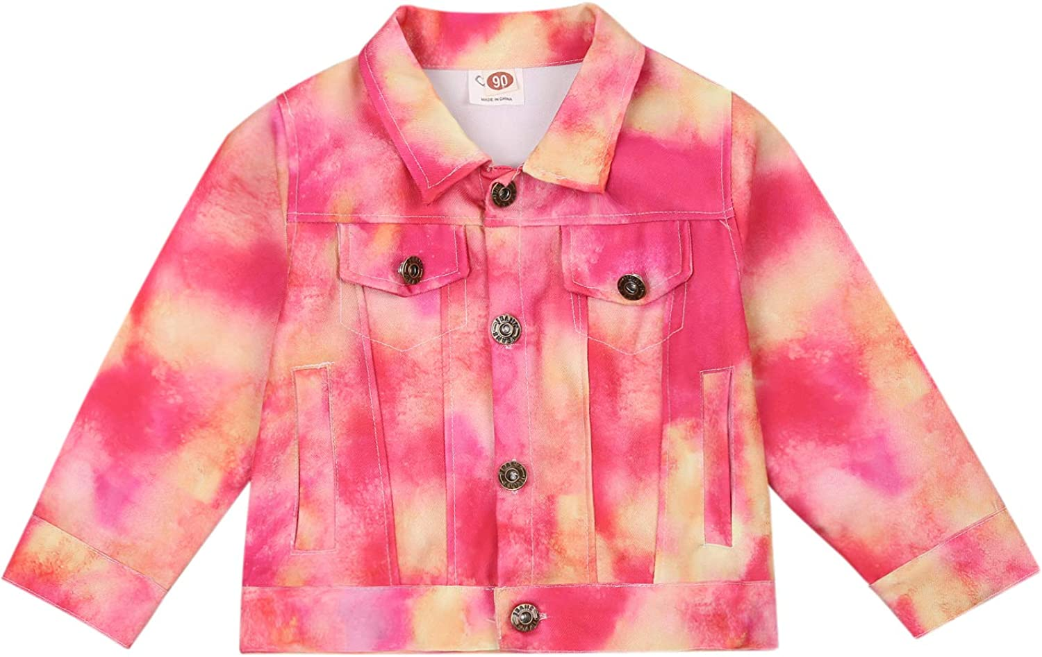Rare Baby Tie dye Jacket Girls' Fall Outfit L Jackets Outerwear Denim Max 59% OFF