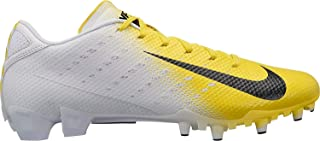 Nike Men's Vapor Speed 3 TD Football Cleats (13, White/Yellow)