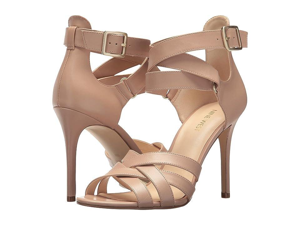 Nine West Mcglynn Heel Sandal (Barely Nude Dress Calf) High Heels