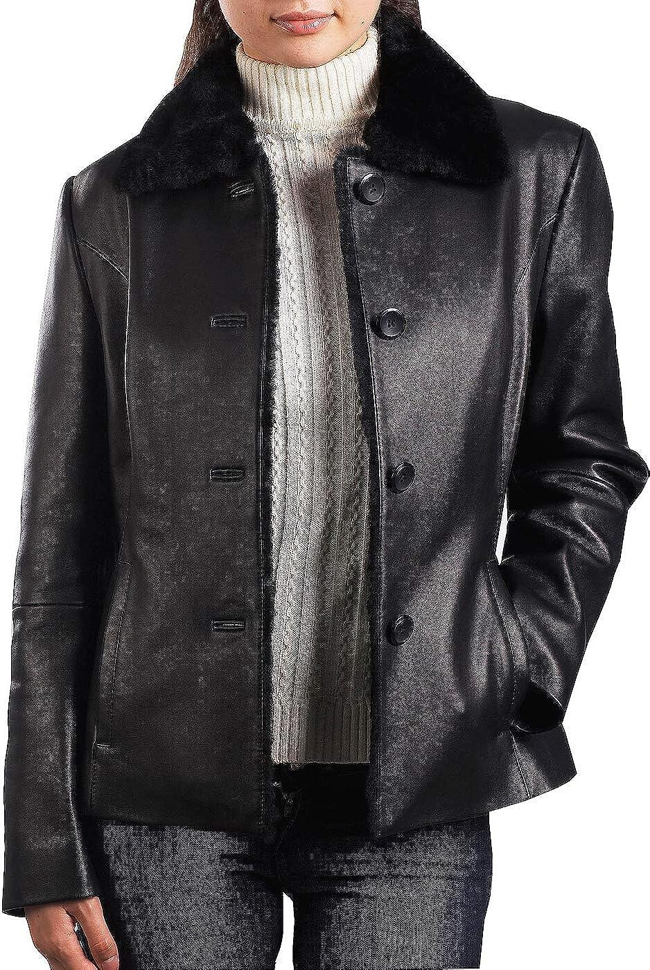 BGSD Women's Kare Lambskin Leather Jacket (Regular & Plus Size & Petite)