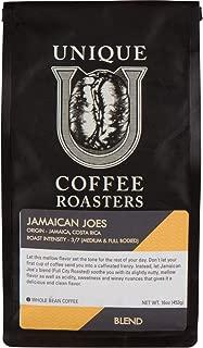 Jamaican Joe's Blend, 1 LB, Whole Bean, Medium Full City Roast, 100% Arabica Premium Quality