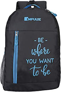 Impulse 50 cms Blue Casual Backpack (Colombus 30 Litres Blue)