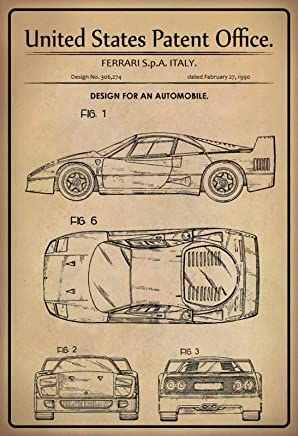 Ferrari 750/Monza Italie nostalgique en m/étal r/étro vintage Tin plaque murale fantaisie Cadeau