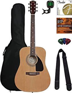 Best Fender FA-115 Dreadnought Acoustic Guitar - Natural Bundle with Fender Play Online Lessons, Gig Bag, Tuner, Strings, Strap, Picks, and Austin Bazaar Instructional DVD Review