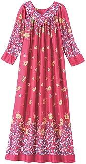 Hawaiian Muu Muu Caftan Casual House Dress Long Length with Pockets