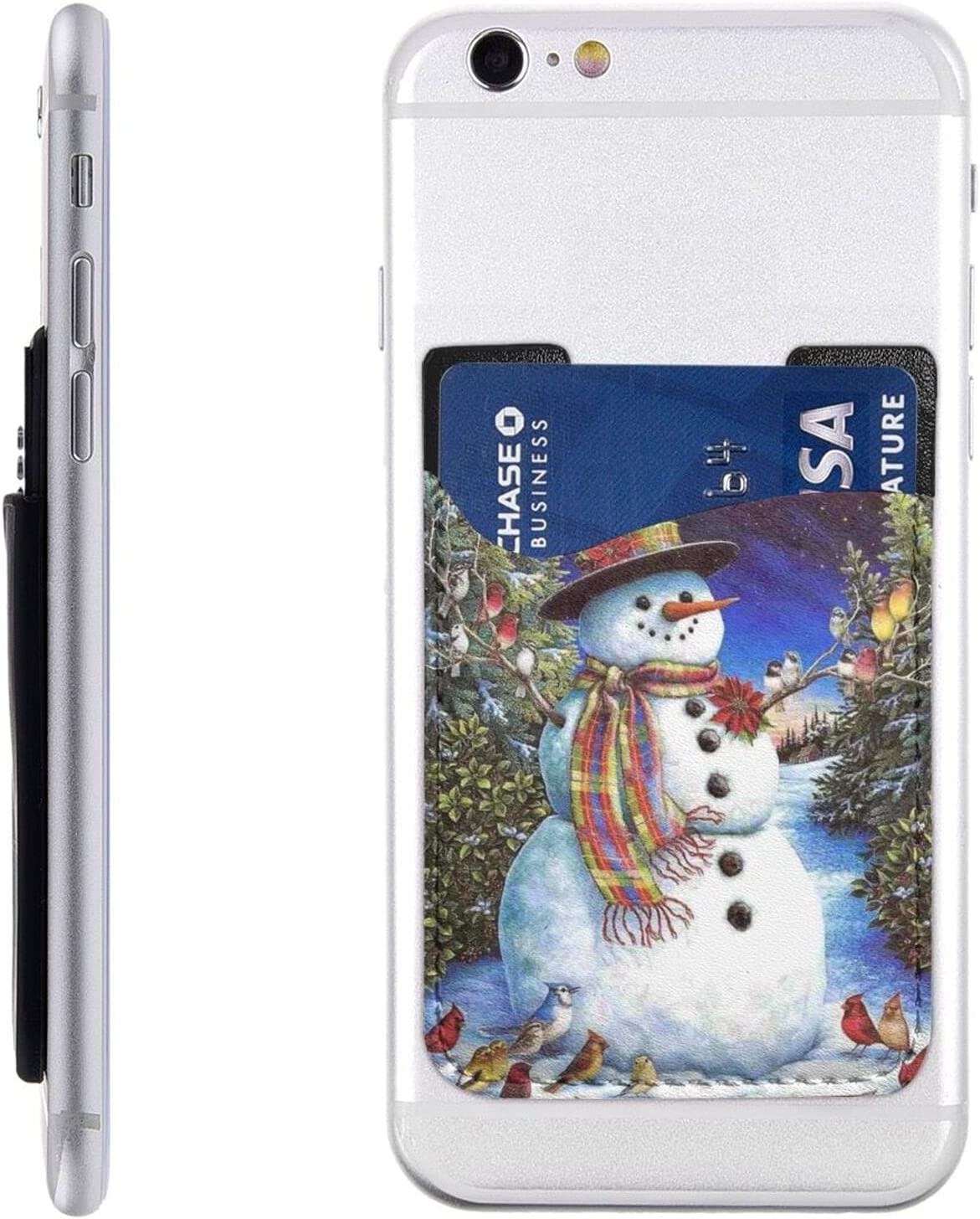 Snowman Birds Christmas Daily bargain Max 52% OFF sale Tree Phone Stick Holder Card Cell