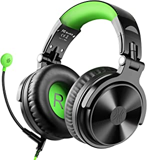 OneOdio Gaming Headsets with Boom Mic, Over Ear Headphones Wired Stereo Sound for Gaming Chatting Meeting, 50mm Driver Share-Port Soft Earmuffs for PS4 Xbox Cell Phone PC Laptop Tablet