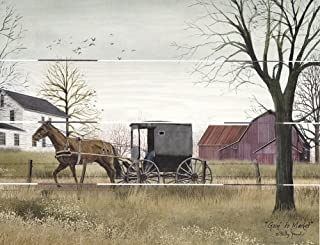 Rustic Pallet Art Amish Buggy Going to Market Wooden Wall Hanging, 9
