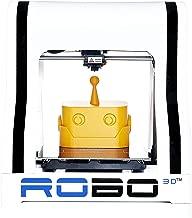 "Robo R1+ ABS/PLA Assembled 3D Printer, Big Build Volume 8""x9""x10""  for Educators and Innovators"