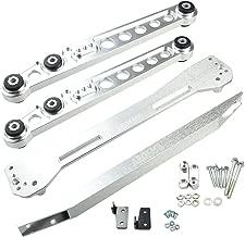 yjracing Rear Lower Control Arm Subframe Brace Tie Bar Kit Fit for 1996-2000 Honda Civic EK Silver