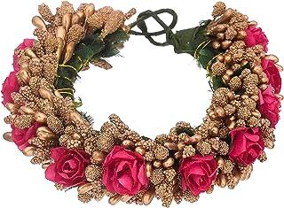 Pack Of 1 - Multicolor Hair Accessories Fabric Material Artificial Juda Maker Flowers Juda/Gajra For Women & Girls