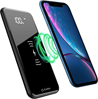 Cellet Wireless Portable Charger 10000 mAh LED Display Power Bank External Battery Pack Compatible with Apple iPhone Xs/Max Xr X 8/ Plus Samsung Galaxy S10 S9 S8 with USB/USB C/Micro USB Ports