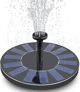 FEELLE Solar Fountain, Solar Bird Bath Fountain Pump 1.4W Solar Powered Water Pump Kit for Birdbath, Pond, Pool and Outdoor Garden