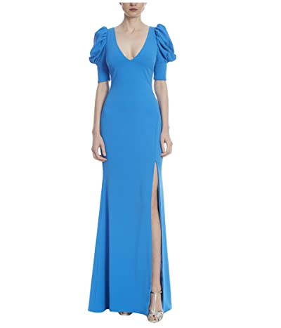 Badgley Mischka 3-D Sleeve Gown (Caribbean Blue) Women