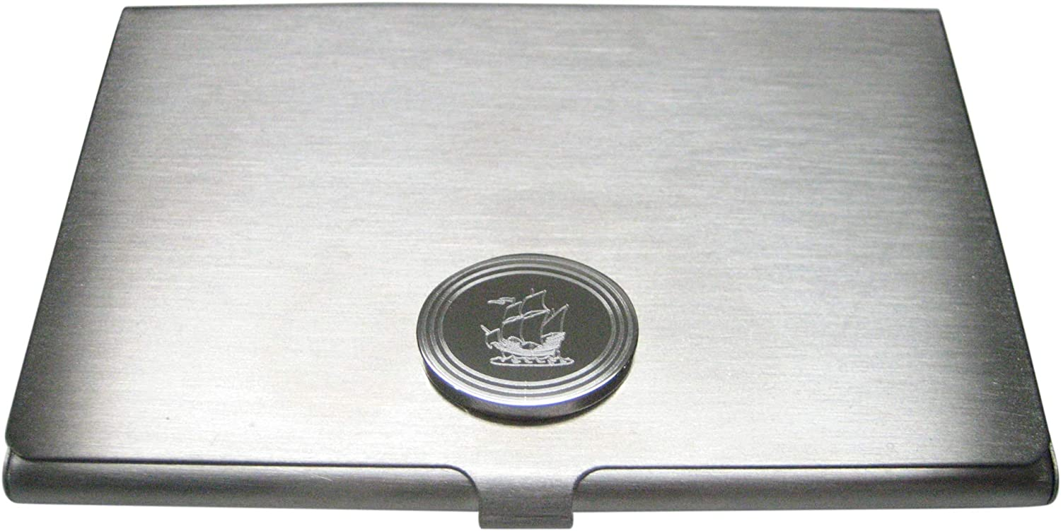 Kiola Designs Silver New product type Toned Etched Oval Ship C Style Business Old Safety and trust