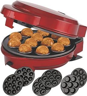 Melissa 16250072 Moule à muffins et popcake 3 en 1 avec 3 plaques de cuisson interchangeables Rouge métallisé