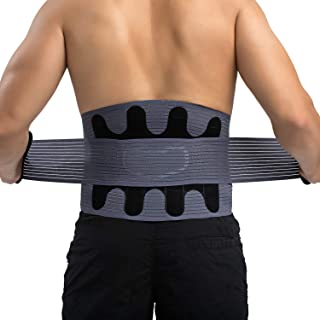 Athlete Elite Back Support Belt and Posture Corrector (Neoprene) Relieve Sciatica, Lower Lumbar, Joint, Herniated Disc Pain | Adjustable, Breathable Heat Compression | Men, Women [ L - 39'' ]