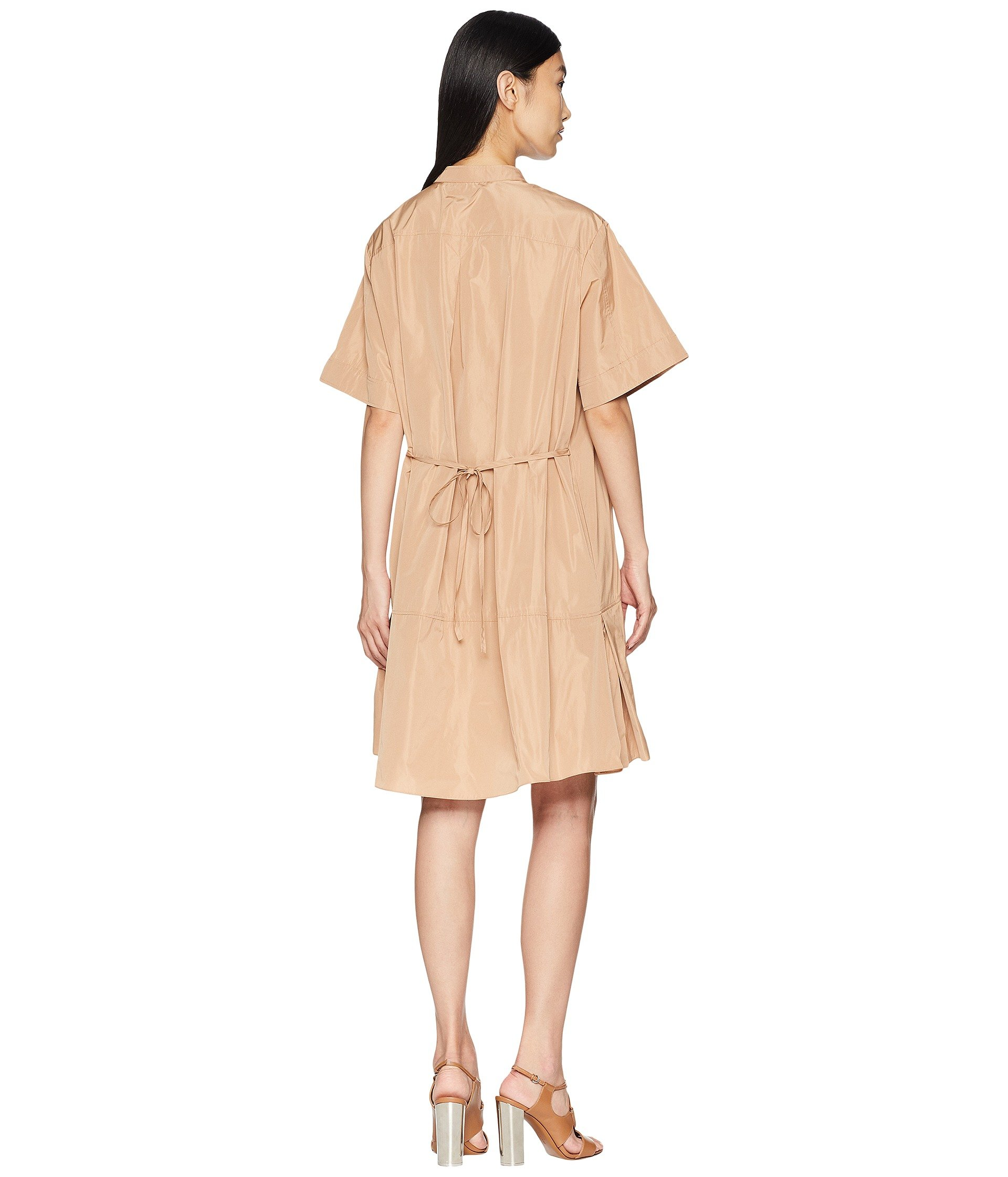 Short Neckline Pink Navy pastel Dress Sleeve Sander Light Jil Korean W EZAq17w