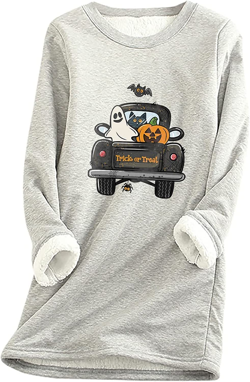 Milwaukee Mall YAYUMI Women Long-Sleeved Sweater Pumpkin Car Print cheap Head Top T-
