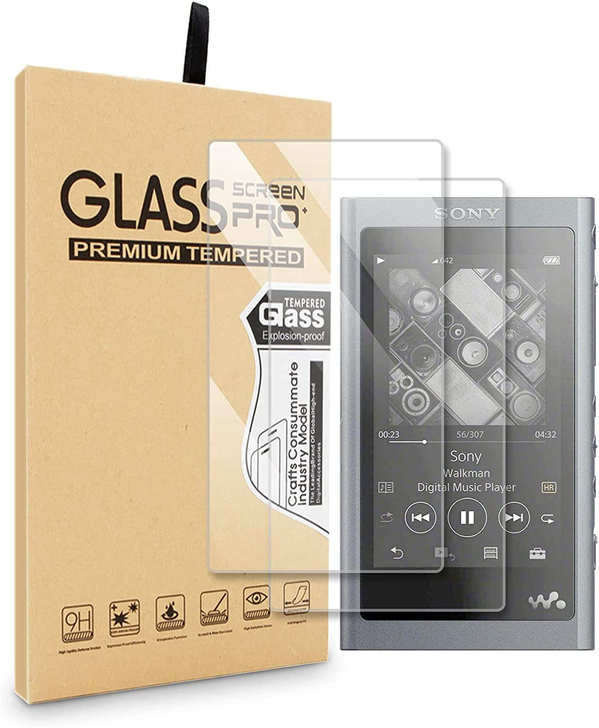 2pcs for Sony A55 Sales results No. 1 Tempered Glass Ultra Protective 9H Temp Latest item Clear