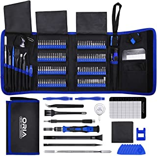 ORIA Precision Screwdriver Set (New Version), 142 in 1 with 120 Bits Mini Magnetic Screwdriver Kit Repair Tool Kit with Po...