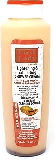 Crema de ducha exfoliante y aclarante para la piel de la primera dama 750 ml con leche de cabra.