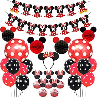 Best red and white minnie mouse party Reviews