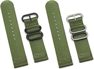 Fanmis 2 Pieces 22mm Replacement Fabric Ballistic Nylon Strap Watch Band Watchband