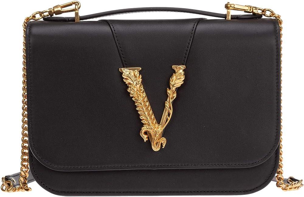 Versace, virtus, borsa a spalla da donna,in vera pelle DBFG985-D5VIT_K41OT