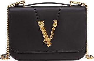 Versace mujer Virtus bolsa de asa larga nero
