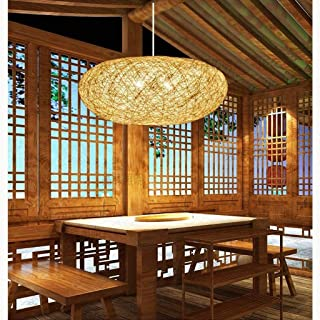 Pendant Lights Rattan Rattan Lamp Chandelier Bedroom Dining Study Personality Of Classical Chinese New Retro Chandelier Chandelier Ceiling Lights & Fans