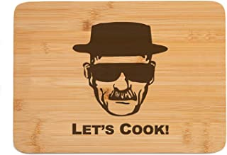 Dads Birthday Gifts - Engraved Bamboo Cutting Boards for Kitchen, Gifts for Fathers Day, Christmas Day, Wedding Anniversary Gifts from Kids, Let's Cook Chopping Board for Dad