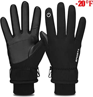 Yobenki Winter Gloves, -20°F(-28°C) Touch Screen Thermal Gloves Windproof Cuff Gloves