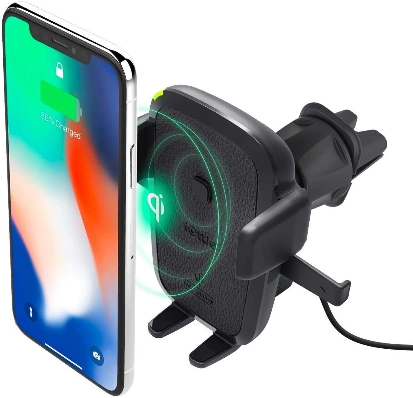 iOttie Easy One Touch 10W Qi Wireless Charger Vent Mount