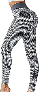 SKYSPER Leggings Mujer Fitness Cintura Alta Pantalones Deportivos Mallas Pantalones de Deporte con Bolsillos Laterales Elá...