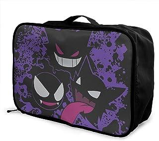 Pokemon Bagage Trolley Bag Storage Box Léger, Grande Capacité, Pliable Vêtements Sac de Rangement Voyage Ecole Mode