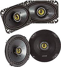 Kicker CS Series CSC46 50 Watt 4 x 6 Inch Dual Speakers Bundle with CSC65 100 Watt 6.5 Inch 2 Way Car Audio System Dual Co... photo