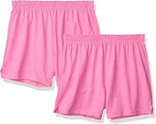 Soffe Juniors' Authentic Cheer Short, Pink, Small (2-Pack)