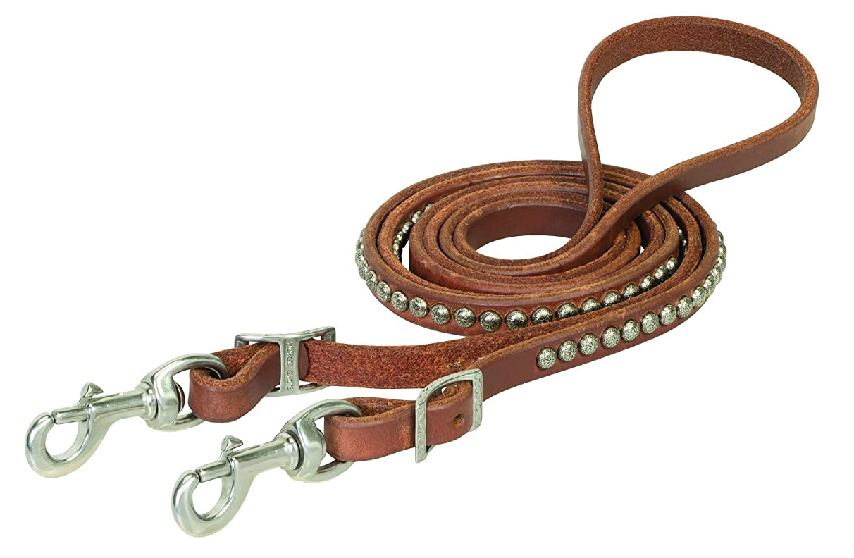 Weaver Leather Russet Harness Leather Spotted Roper Rein