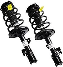 Shoxtec New Front Pair (2) Complete Strut Assembly Shock Absorber Coil Spring Kit, Fits 2005 2006 2007 2008 2009 2010 Toyota Sienna FWD (Repl. Monroe 172363, 172364)