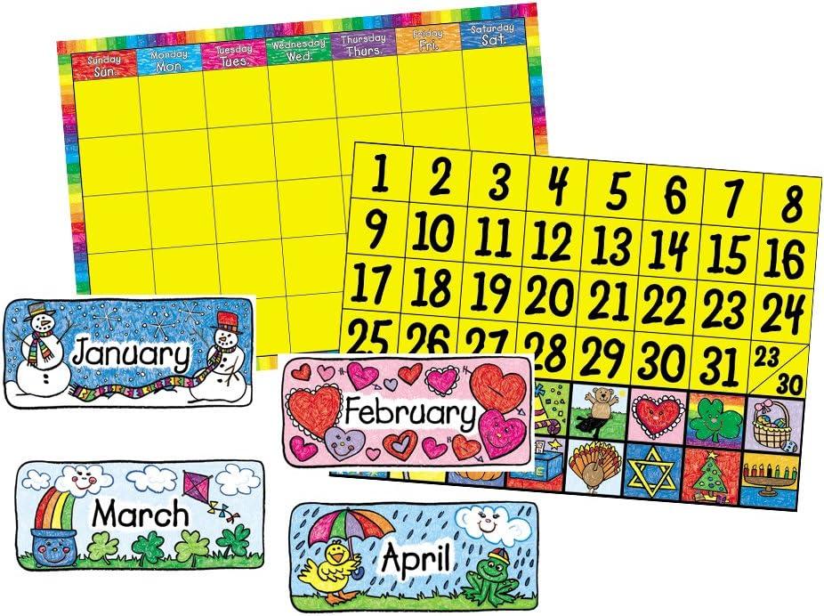 Carson 40% OFF Cheap Sales for sale Sale Dellosa Calendar Set: Kid-Drawn Bulletin Set 3270 Board